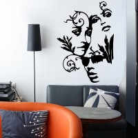 Decor Kafe Decal Style Abstract Peoples Art Small Size- 13*19 Inch Wall Sticker Sticker (Pack Of 1)