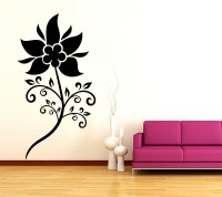 Decor Kafe Sunflower Self Adhesive Wall Decal Large Size-27*52 Inch Wall Sticker Sticker (Pack Of 1)