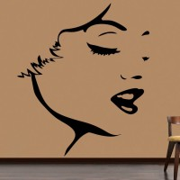 Decor Kafe Decal Style Face Outline Art Small Size- 15*18 Inch Wall Sticker Sticker (Pack Of 1)