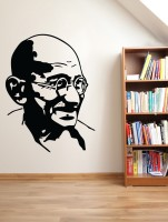Decor Kafe Decal Style Gandhi Small Size-14*19 Inch Vinyl Film Sticker (Pack Of 1)