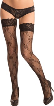 PrettySecrets Women's Lace Top Stockings