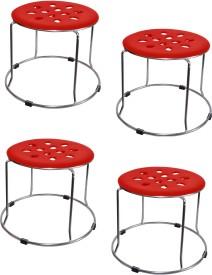 Zecado Medium Red Outdoor & Cafeteria Stool