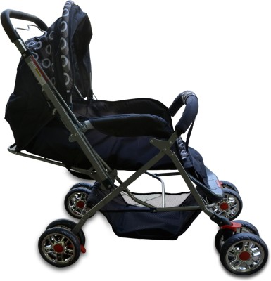 Plus One Pram & Stroller (Multicolor)