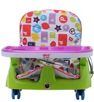 INTRA Kid's Royal Booster Seat And Baby Chair With Height Adjustable And Wheels (Green)