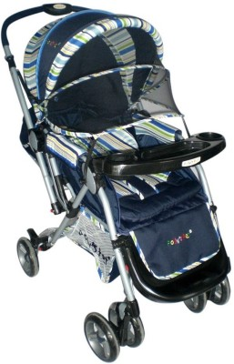 Pollyspet Blue Color Baby Stroller (Blue)