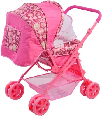 Notty Ride Baby Pram-Stroller (Pink) (Pink)