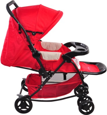 Notty Ride Baby Pram Cum Rocker (Red) (Red)