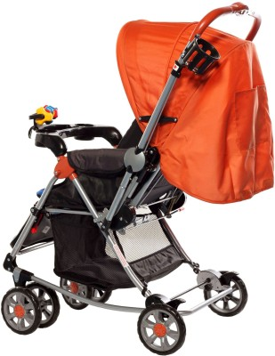 Sunbaby Tall Buddy Giraffe Stroller with Rocking (Orange)