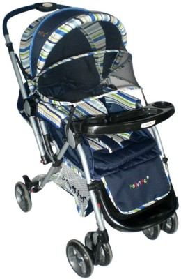 Pollyspet Blue Baby Stroller with Tray (Blue)