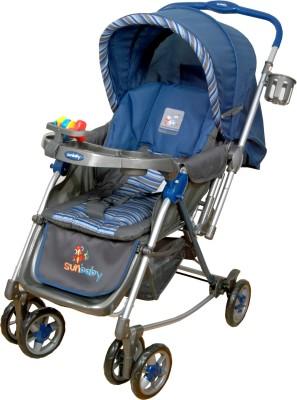 Sunbaby Blue Aurora Stroller with Rocking (Blue)