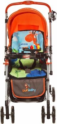 Sunbaby Tall Buddy Giraffe Stroller with Rocking (Orange)