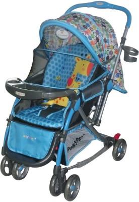 Pollyspet Baby Stroller Giraffe Printed (Blue)