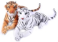 Atc Toys White And Brown Tiger Combo  - 35 Cm (Brown, White)