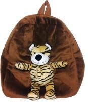 Soft Buddies Plush Toy Bag With Animal - Tiger  - 10.4 Inch (Brown)