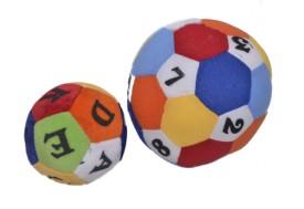 E Soft Combo Of Two Printed Balls 9cm,13cm  - 6 Inch (Multicolor)