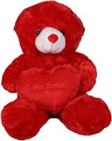 Joy Teddy Bear With Heart  - 17 Inch (Red)