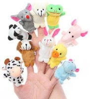 Natkhat Finger Puppets Set Of-10  - 12 Cm (Multicolor)