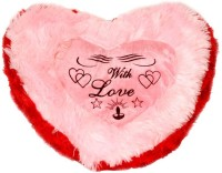 Deals India Valentine With Love Heart Cushions  - 12 Inch (Pink, Red)