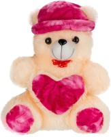 Ganpati Traders Huggable Cap-heart Teddy Bear  - 23 Inch (MULTI)