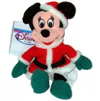 Disney Minnie Santa 1997 Mini Bean Bag Plush (Red)