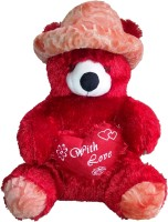 Porcupine Teddy Bear With Beautiful Cap - 12 Inch (Red)