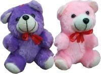 Ekku Combo Of 2 Teddy Bears  - 6 Inch (Blue, Pink)