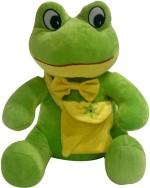 Soft Buddies Soft Toys Soft Buddies Naughty Frog with Bag 38.1 cm