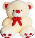 A Smile Toys & More Bow Teddy  - 21 Inch - White