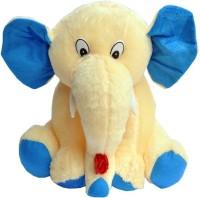 Tabby Toys Cute Jumbo Elephant  - 30 Cm (Butter, Blue)