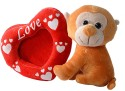 Dimpy Stuff Monkey With Photo Frame  - 7.08 Inch - Red, Orange