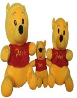 SCG Huge,Big And Chotu Pooh Combo Of Three  - 35 Cm (Yellow)