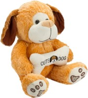 Glitters Glitters Smart Brown Dog With A Bone - 24 Inch (Brown)