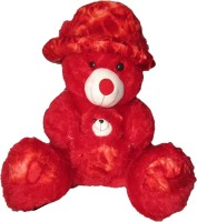 SONIYA ENTERPRISES Teddy Bear With Cap  - 65 Cm (Red)