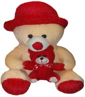 Shree Krishna Teddy Bear With Little Son  - 18 Inch (Beige, Red)