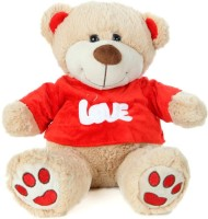 Giftwish Cute Teddy Bear With Red T-Shirt Soft Toy- H 30cm  - 30 Cm (Beige)