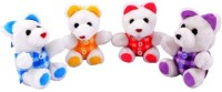 Deals India Little Multicolor Jacket Teddy (Set Of 4)  - 17 Cm (Multicolor)