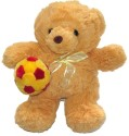 Tickles Teddy Playing With Colorful Ball  - 10 Inch - Brown