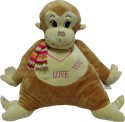 Play N Pets Animal Soft Toy - Monkey  - 13.77 Inch - Light Brown