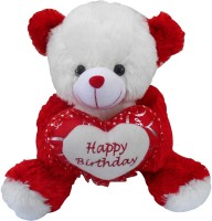 Saugat Traders Happy Birthday Teddy Bear  - 40 Cm (Red, White)