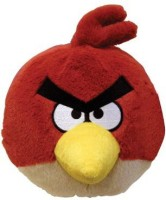 Angry Birds Plush 5Inch Red Bird With Sound (Red)
