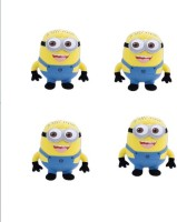 Meeras Despicable Me 3 Minions Plush Toys Combo Set Of Four In One Pack (collect Them All)  - 9 Inch (Multicolor)