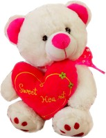 Fun&Funky Teddy Bear With Heart - 14 Inch (Multicolor)