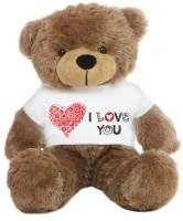 Grabadeal Big Teddy Bear Wearing A Beautiful I Love You T-shirt - 24 Inch (Brown)
