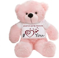 Grabadeal Big Teddy Bear Wearing A Will You Be My Valentine T-shirt - 24 Inch (Pink)