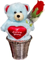 Luxury Gifts By Nikki Valentine's I Love You Teddy  - 6 Inch (Blue, Red)