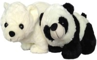 SCG High Quality Cute Big Polar Bear And Panda Combo  - 40 Cm (White)