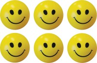 Bgroovy Smiley Face Squeeze Stress Ball - Set Of 6  - 3 Inch (Yellow)
