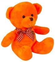 HMS Hms Stuff Orange Teddy Bear With Heart Check Soft Toy  - 18 Cm (Orange)