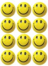 KB's Smiley Face Stress Reliever Ball - 3 inch