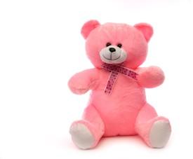 Acctu Toys Pink Sitting Teddy-40cm - 40 cm
